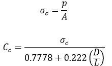 فرمول 2 آزمایش تعیین مقاومت فشاری تک محوری مصالح سنگی - استوارسازان