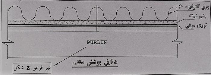 جزئیات اجرای سقف سوله - نقشه خوانی سوله - استوارسازان