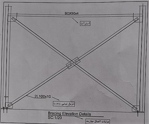 جزئیات اجرایی مهاربند ها - نقشه خوانی سوله - استوارسازان